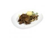 Gulasch aus Känguru- und Hirschfleisch