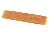 Norwegischer Räucherlachs aus Lachsteilen zusammengefügt