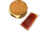 Rinder Burger mit Ketchup