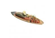 Gravad Lachs aus Lachsfilet zusammengefügt, in Scheiben