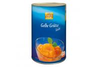 Gelbe Grütze mit Zucker und Süßungsmitteln