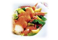Fischspieße, paniert und vorgebraten