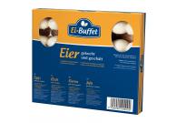 Eibuffet Eier, gekocht und geschält